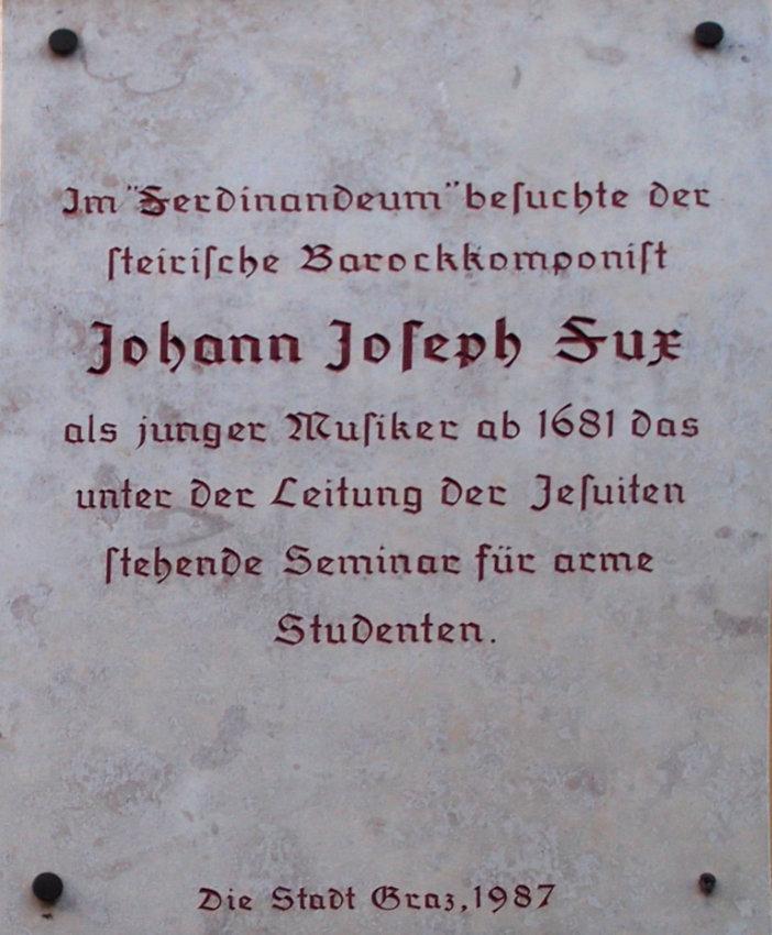 Johann Joseph Fux besucht das Seminar für arme Studenten